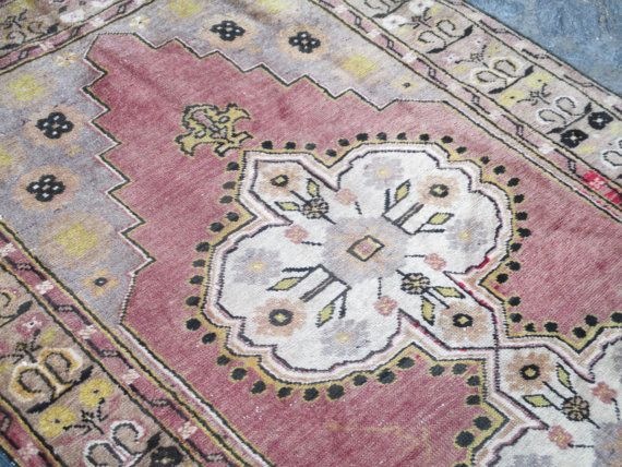 Home and Office Rug Oushak Rug Vintage by LAVENDERSKYBLUE on Etsy