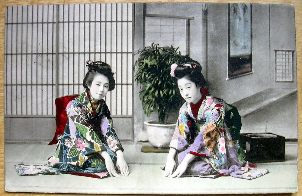 Japanese ladies in traditional costume  Japan posted 1913  D150
