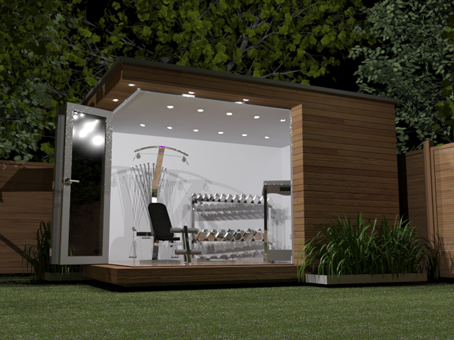 Home gym in the garden room guide