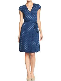 13fe96fcee8895 Women s Cap-Sleeved Wrap Dresses