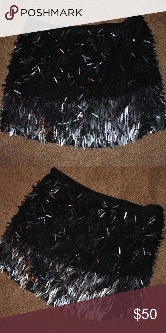 0bf5db5b1d38 New NWT Zara Black & Silver Sequin Skirt NEW w/ Tags ZARA Basic Black &  Silver Sequin Mini Skirt NWT! Brand: Zara Size: Large Zara Skirts Mini