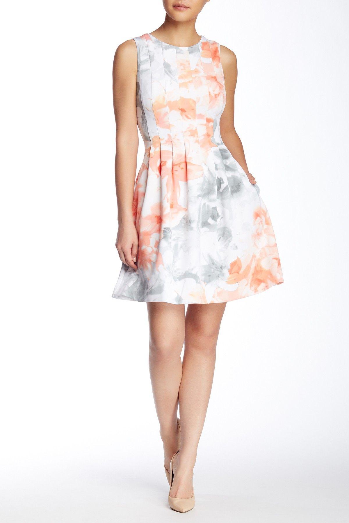 Sleeveless Scuba Fit Flare Dress Fit Flare Dress Flare Dress Dresses [ 1800 x 1200 Pixel ]