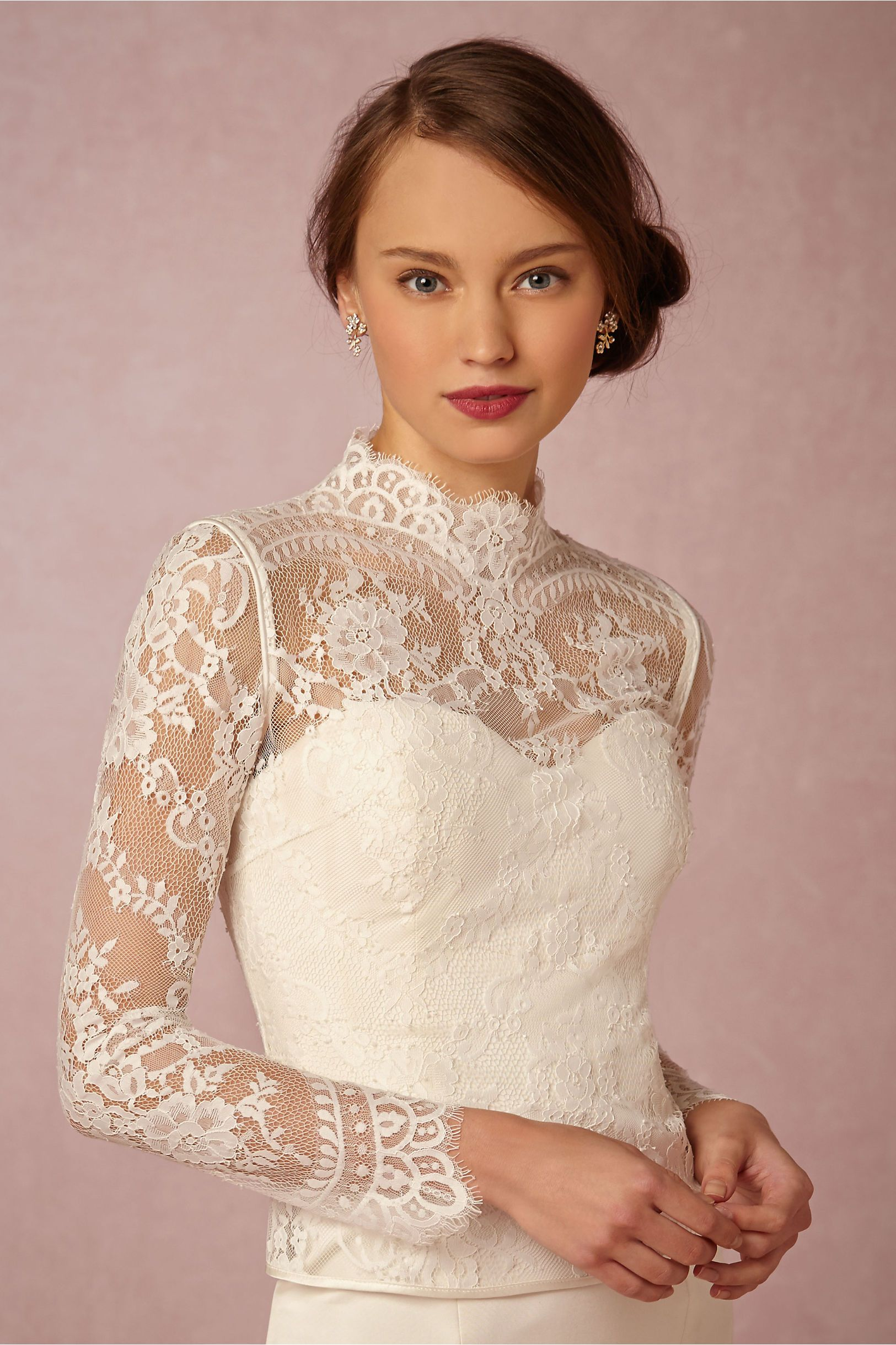 1c3114b17d Dahlia Topper | Wedding Accessories | Wedding dresses, Long sleeve ...