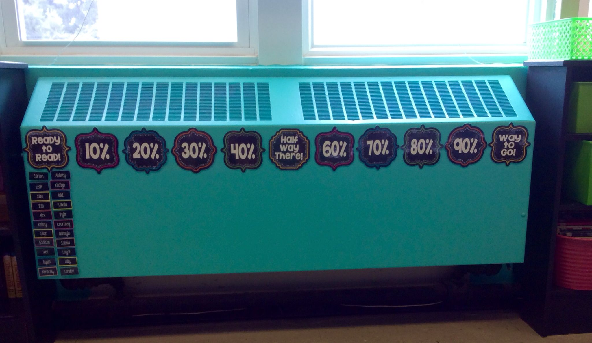 My Accelerated Reader Goal Tracking Chart For The Classroom I Made This Using The Labels From