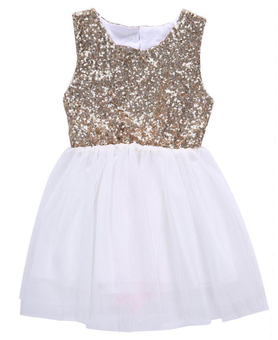 Sequins princess kids baby flower girl dress bowknot backless