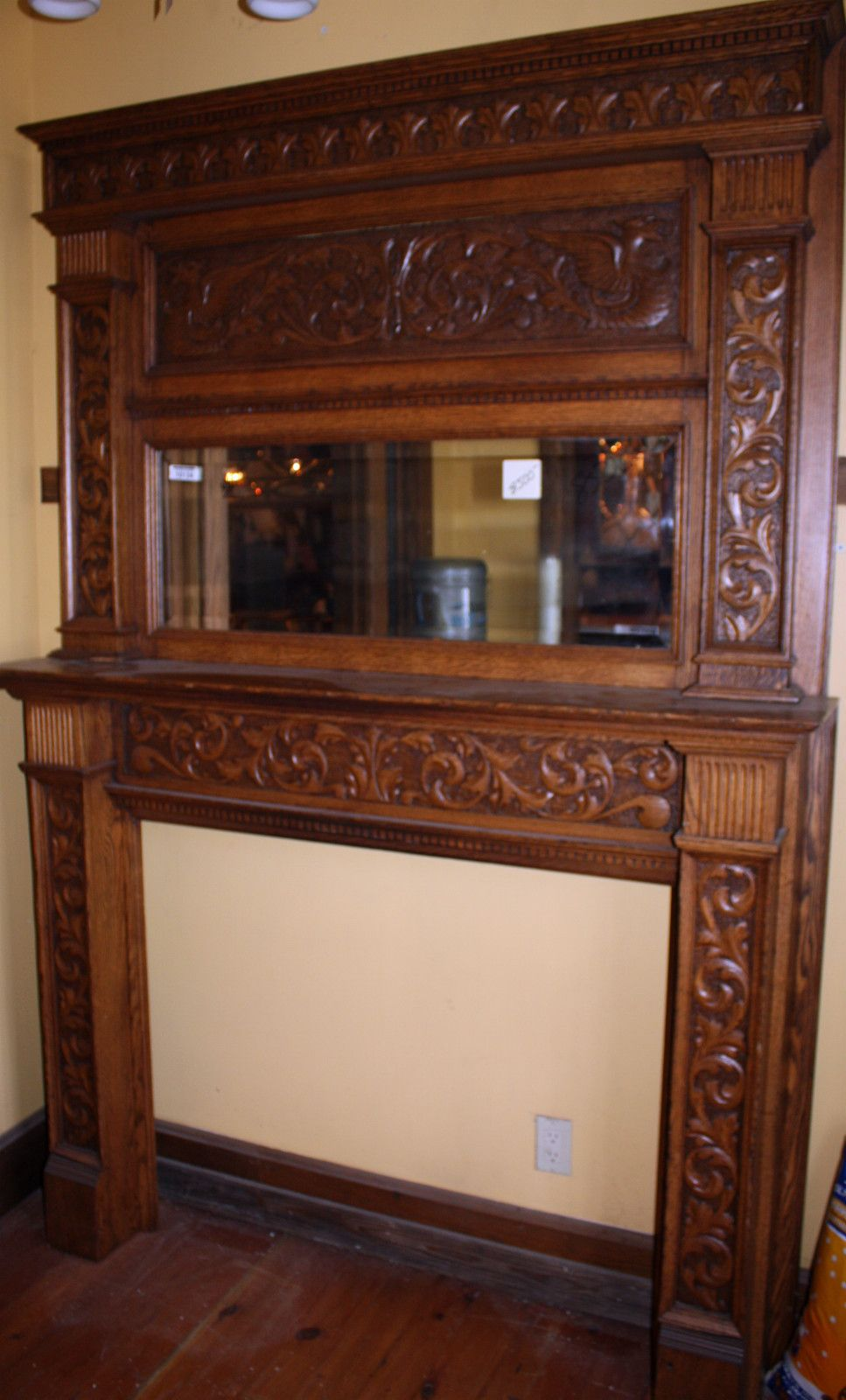 Antique oak fireplace mantel.   Antique Fireplace Mantels ... 751f77c250