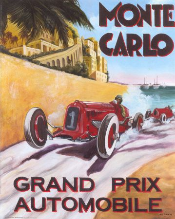 Vintage Racing Automobilia Pc Auto Racing Game Grand Prix Art Grand Prix Posters Vintage Racing Poster