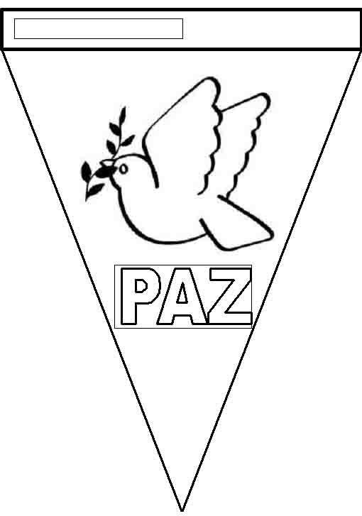 Banderines Dia De La Paz 4 Jpg 510 727 Pixeles Dia De La Paz Paloma De La Paz Paz
