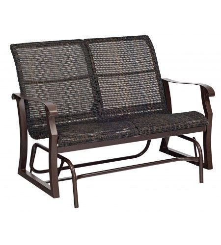 Cortland Woven Gliding Loveseat (With images) | Love seat ... on Living Accents Cortland Patio Set id=30367