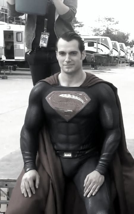 Henry takes the Ice Bucket Challenge in his Superman suit