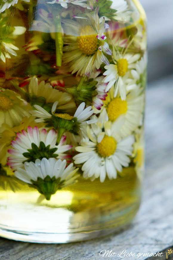Pflegende Handcreme für beanspruchte Gärtnerhände - mit Gänseblümchenöl | ♥ Mit Liebe gemacht #homemadeskincare