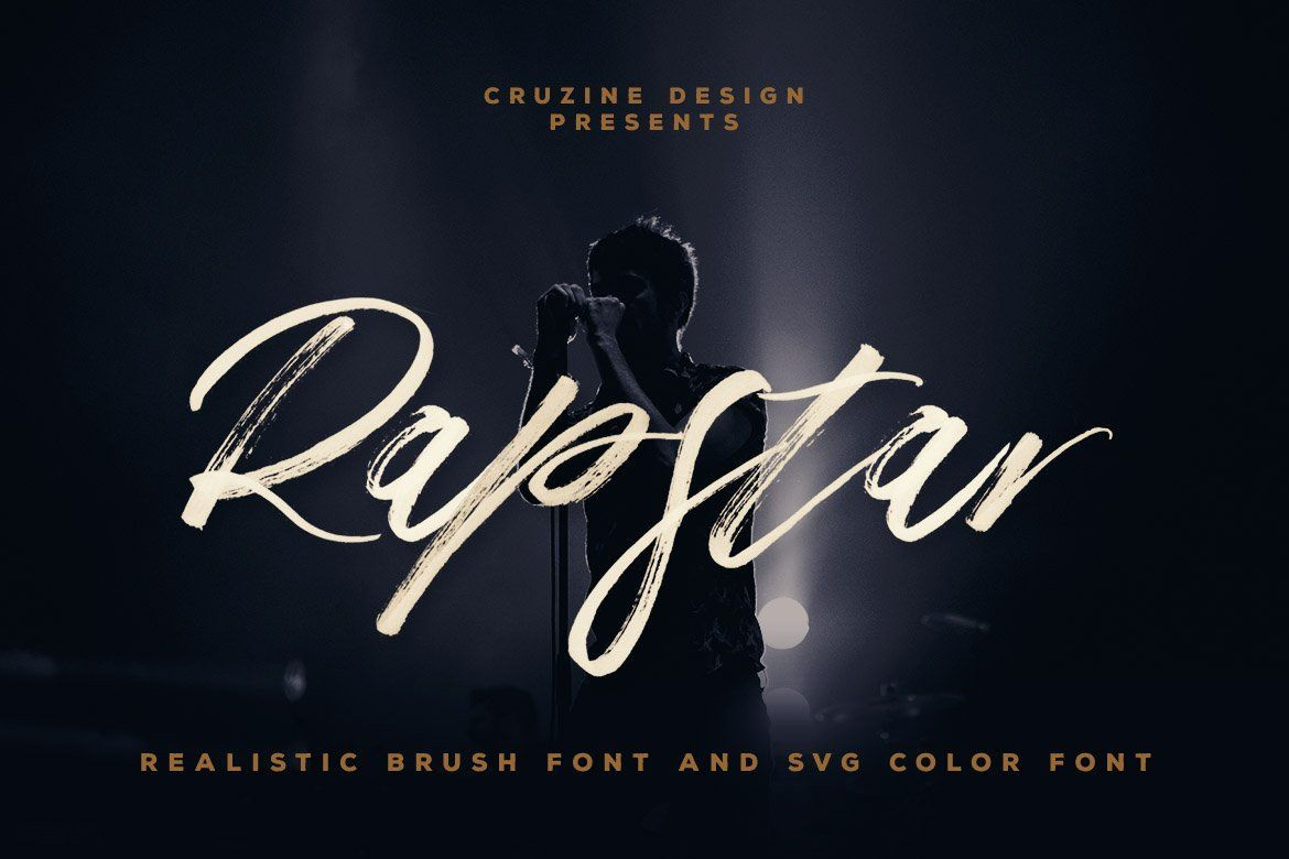 Rapstar Svg Brush Script Font Give Your Designs An Authentic