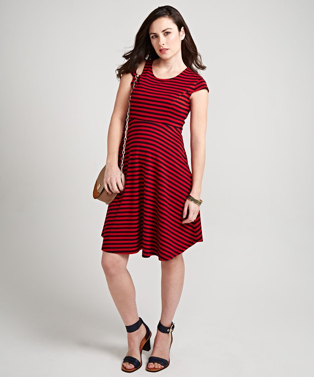 52d93b33e8 I m shopping Navy and Red Maternity Skater Dress in the Mothercare iPhone  app.