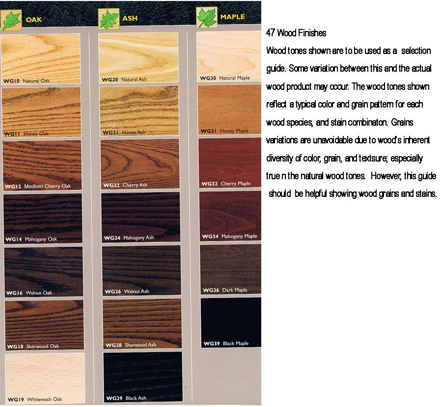 Ash Wood Stain Colors