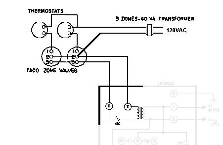 wiring diagram for taco zone valve