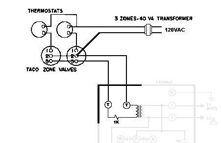 Taco Zone Valve Wiring Sch   Taco Zone Valve in 2019