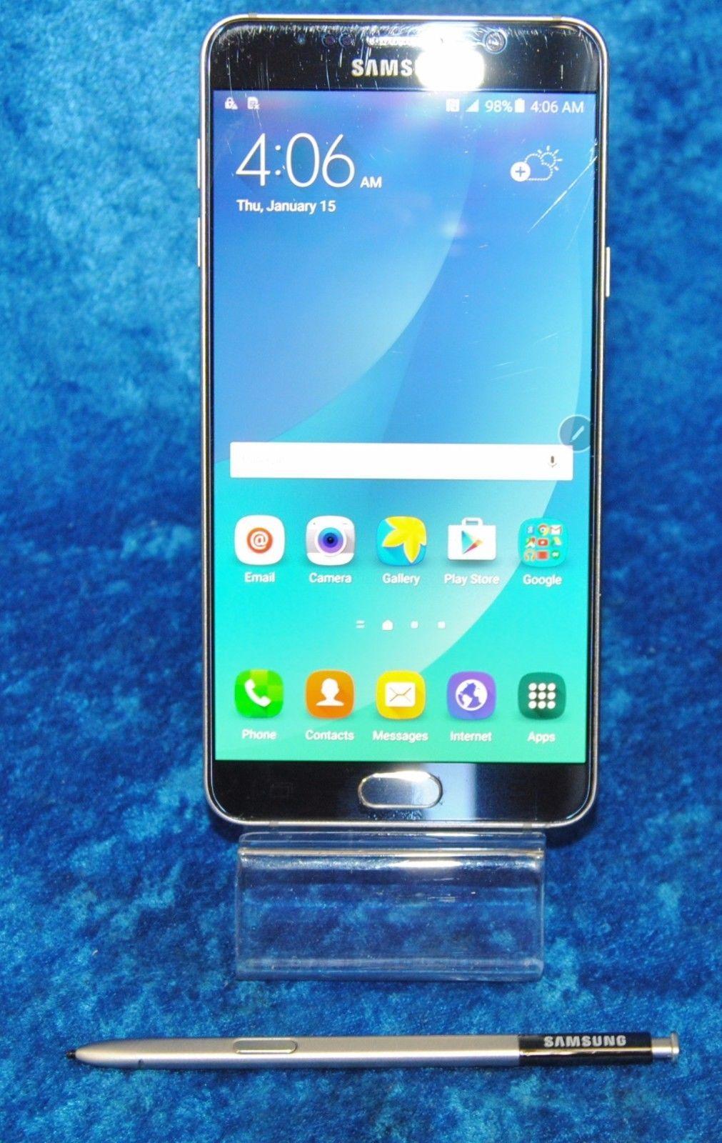 "Samsung Galaxy Note5 - 32 GB T-Mobile & Wi-Fi 16MP 5.7"" Black SM-N920T Clean ESN https://t.co/sFzYV603Ty https://t.co/qHxVuat2Y0"