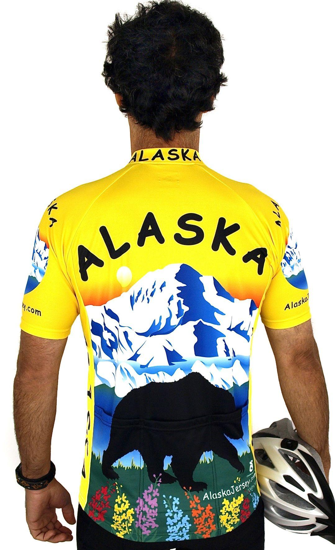 Alaska Bear Cycling Jersey Mens tops, Free spirit bike