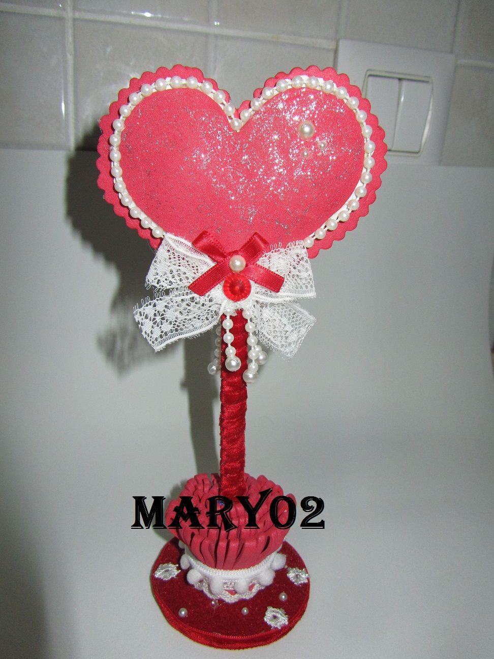 9f6c7aca780a Boligrafo corazon para San Valentin | manualidades eva | San ...