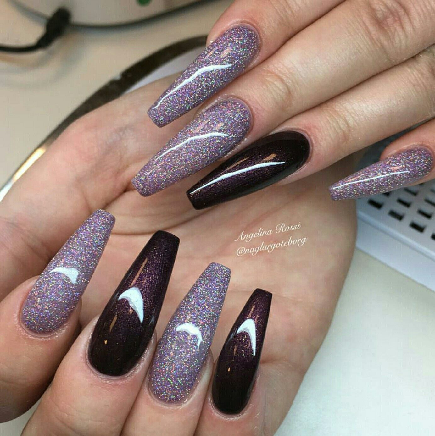 Pin by Ginnie Walters on Acrylic Nail Designs | Pinterest | Coffin ...