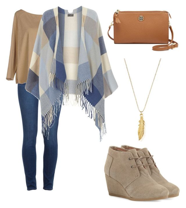 """Wind blown"" by danialidan ❤ liked on Polyvore featuring Paige Denim, Zhelda, Dorothy Perkins, TOMS, ChloBo, Tory Burch, women's clothing, women, female and woman"