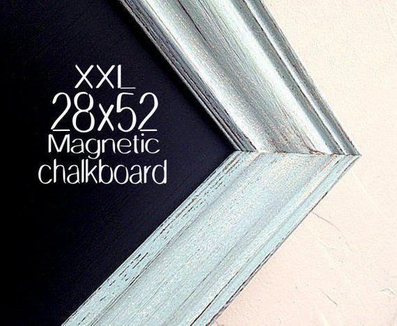 Chalk Board Teal Turquoise Framed