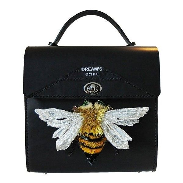 fe3f4b90989 luxury 3d bee embroidery clutch bag ❤ liked on Polyvore featuring bags