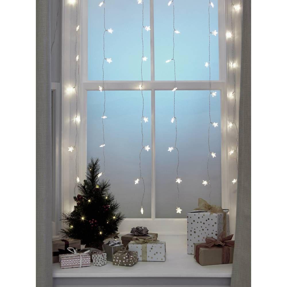 Buy Argos Home 60 Warm White Star Curtain Lights 1m Christmas Lights Argos Christmas Lights In Bedroom White Christmas Lights Curtain Lights