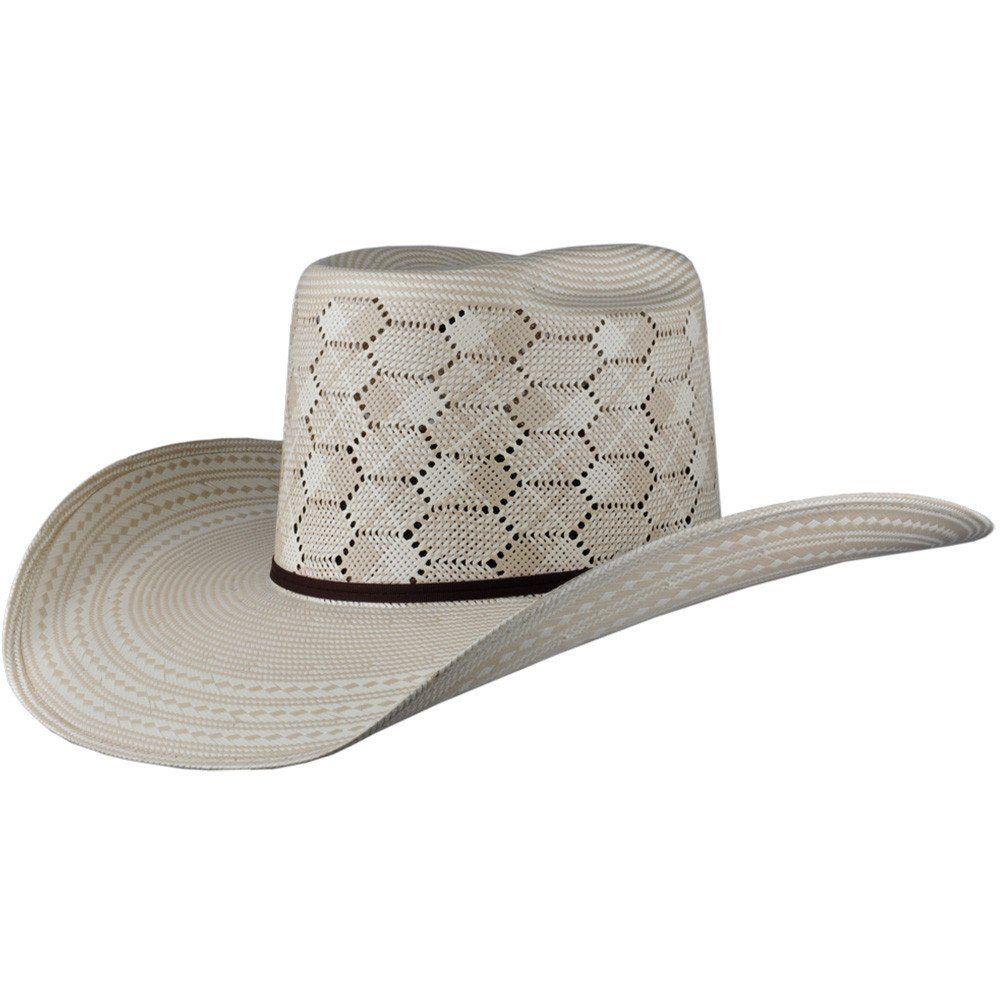 285a18a87fb8f Cuernos Chuecos Hexagon Pattern Brick Crown Cowboy Hat Cuernos Chuecos