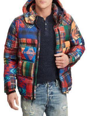 a20954e14 Polo Ralph Lauren Plaid-Print Ripstop Hooded Puffer Jacket