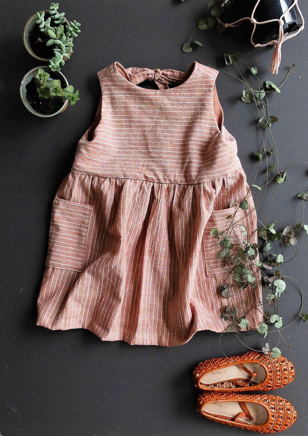 Beautiful Handmade Cotton Pocket Dress  YouAreSmall on Etsy
