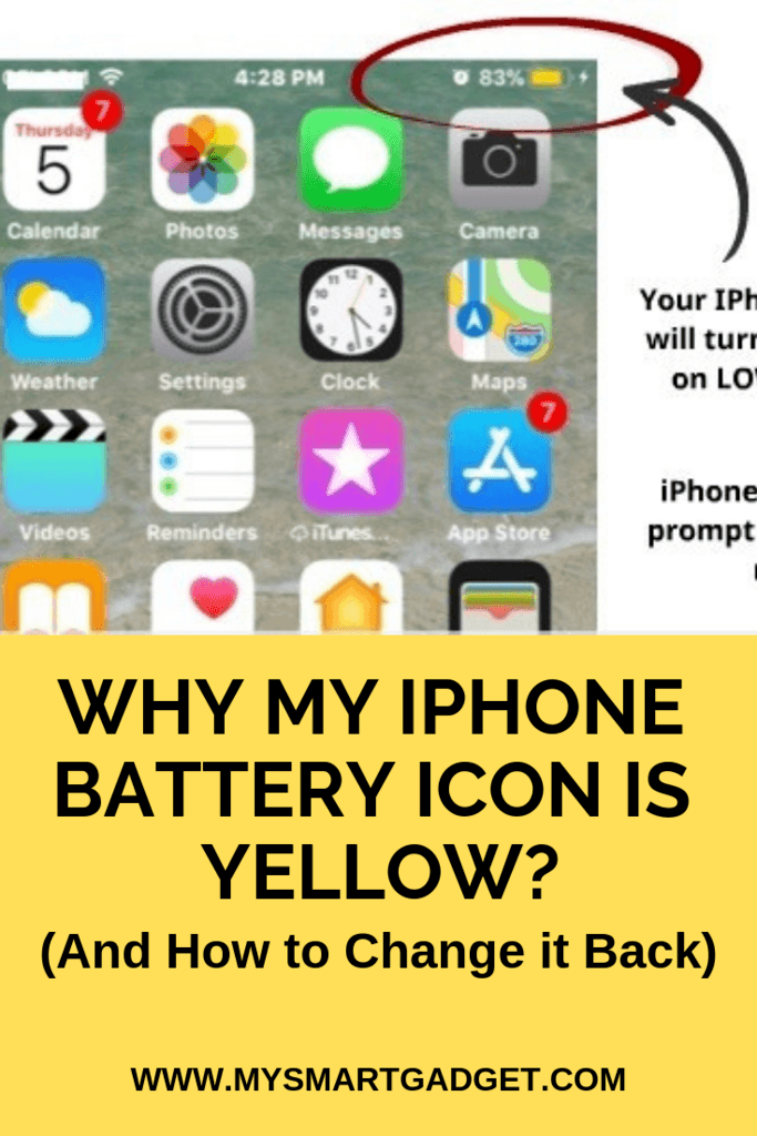 Why is My iPhone Battery Icon Yellow? (And how to change