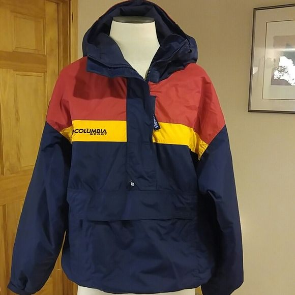 Columbia Sport Hooded Pull Over JacketCoat Colors are navy
