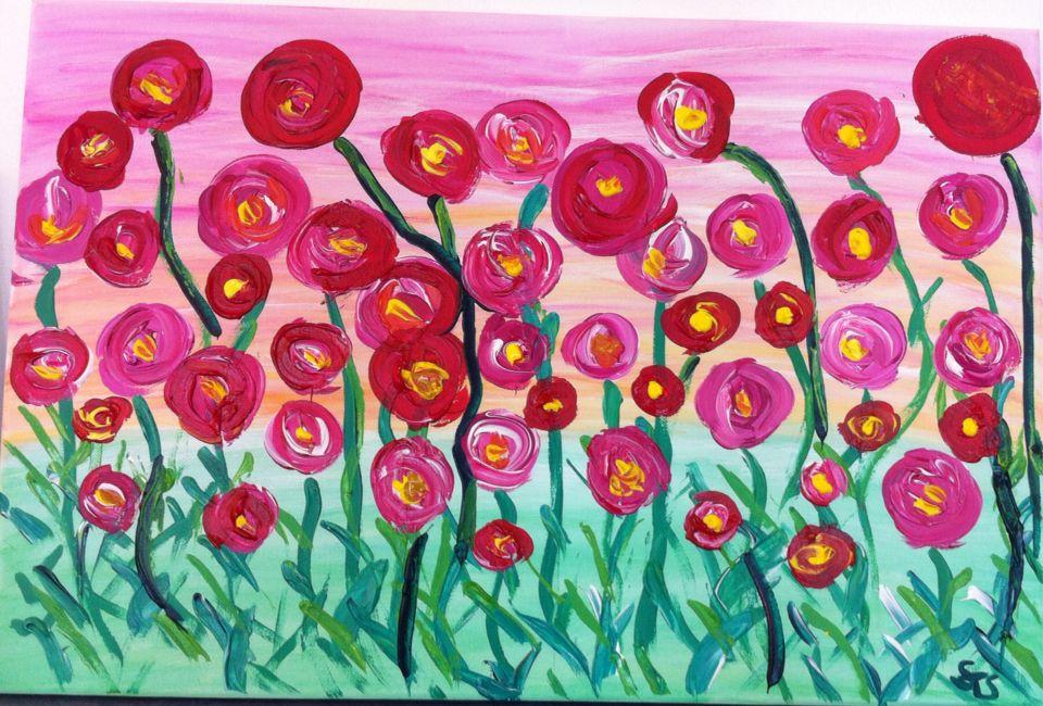 Blumenwiese Blumen Wiese Blumenwiese Kunst