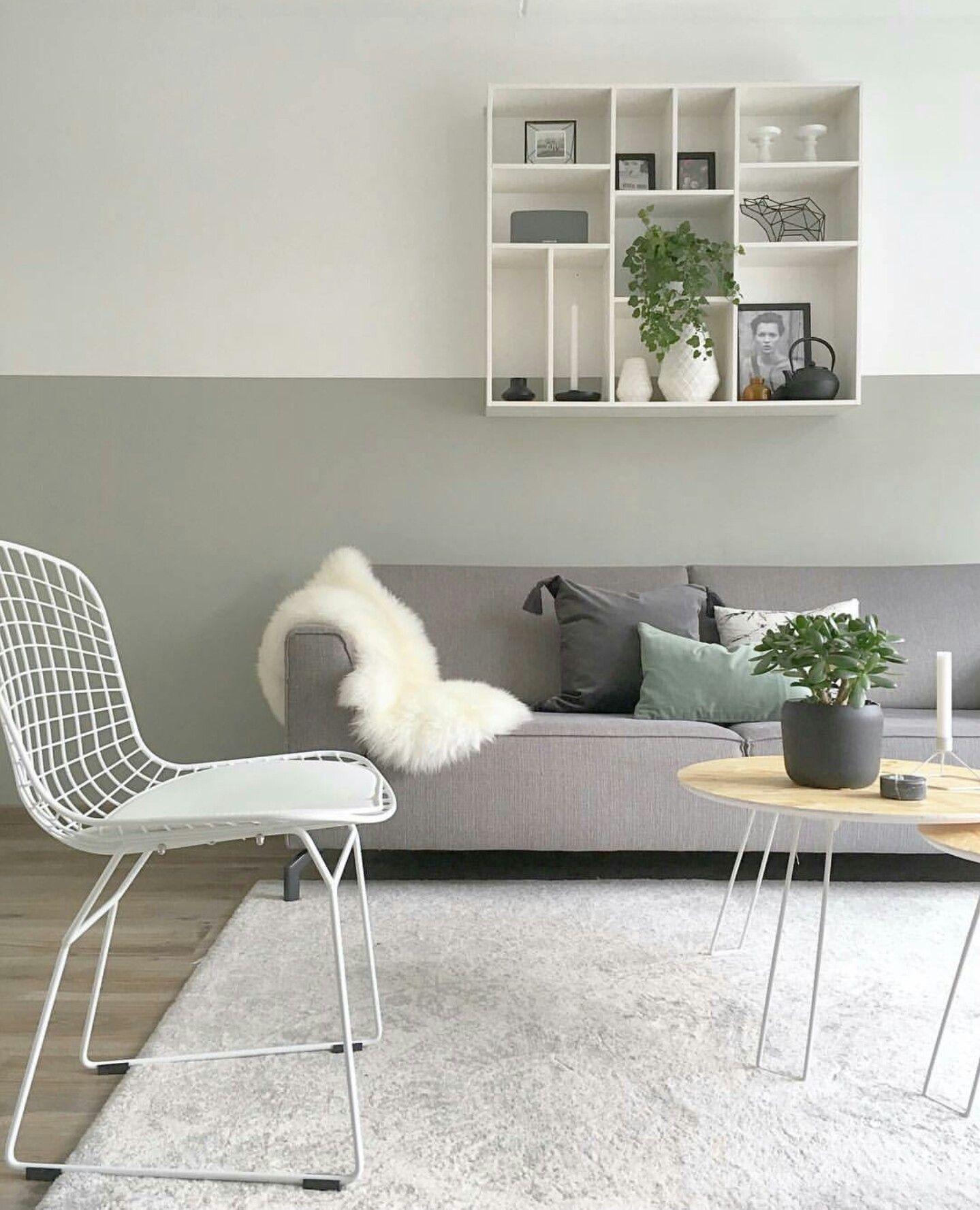 Muurkleur kiezelgroen flexa muurverf pinterest for Kleuren huiskamer