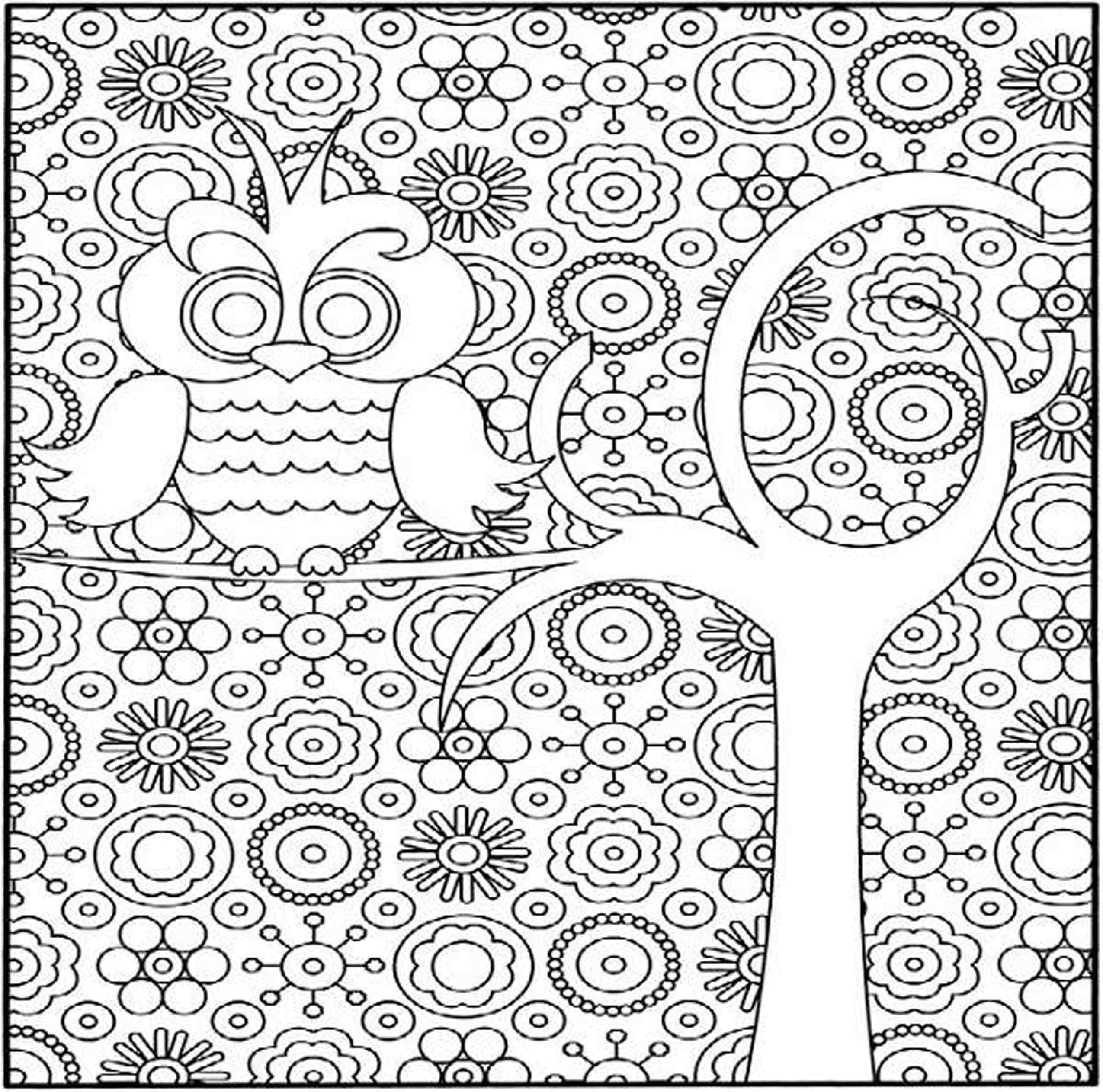 free coloring pages of difficult patterns draw paint images