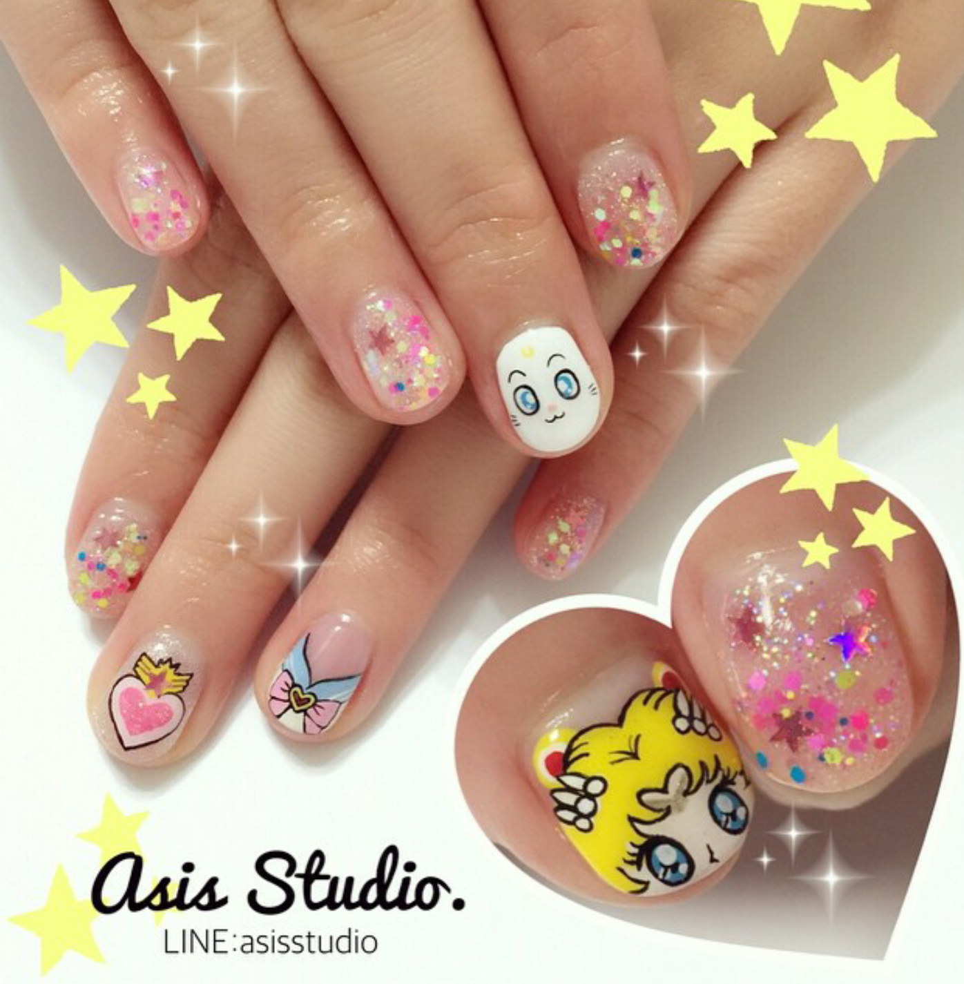 Sailor Moon nails @asisstudio | Just Nail it | Pinterest | Sailor ...