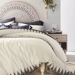 Mandala Carved Faux Headboard Luxury Duvet Covers Bed