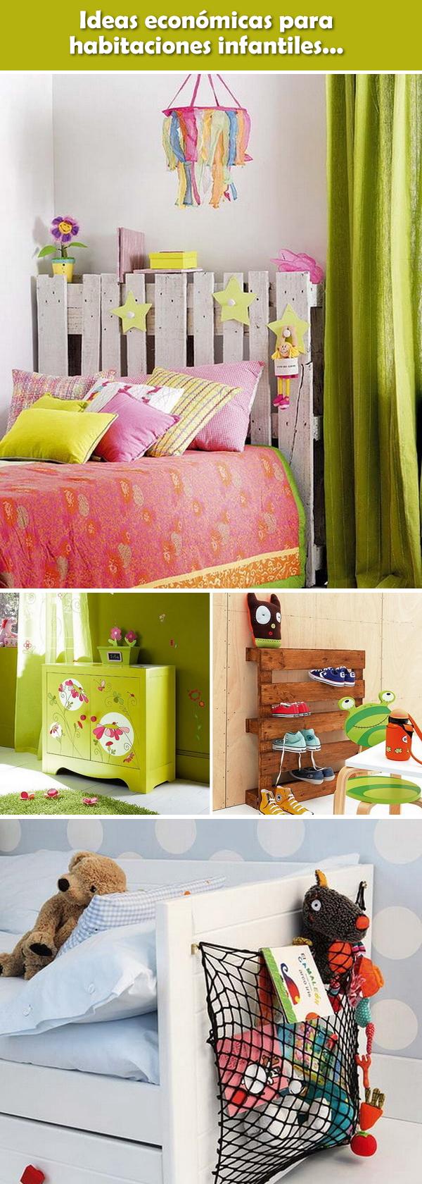 Ideas econ micas para habitaciones infantiles dormitorios infantiles dormitorios infantiles - Decorar habitacion infantil ...