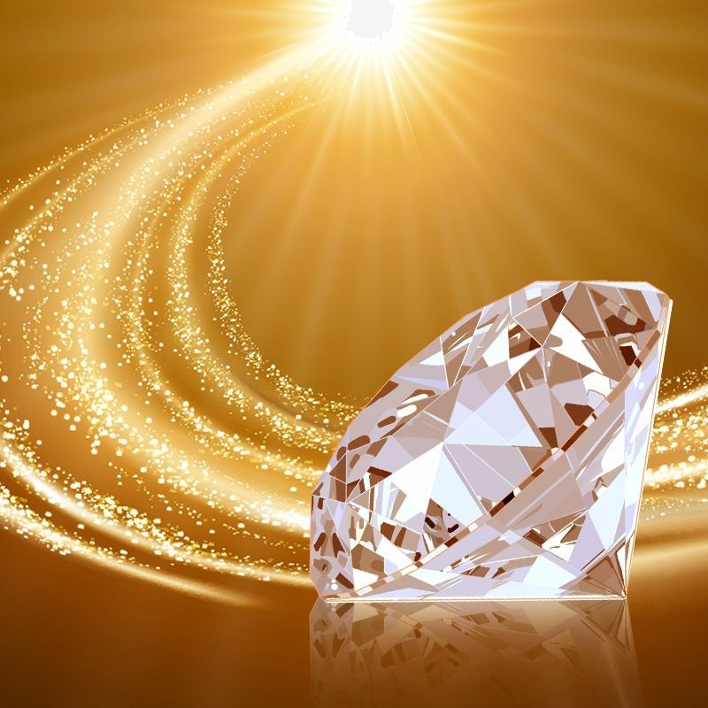 Quality Sensible Diamond Advertising Poster Background Material