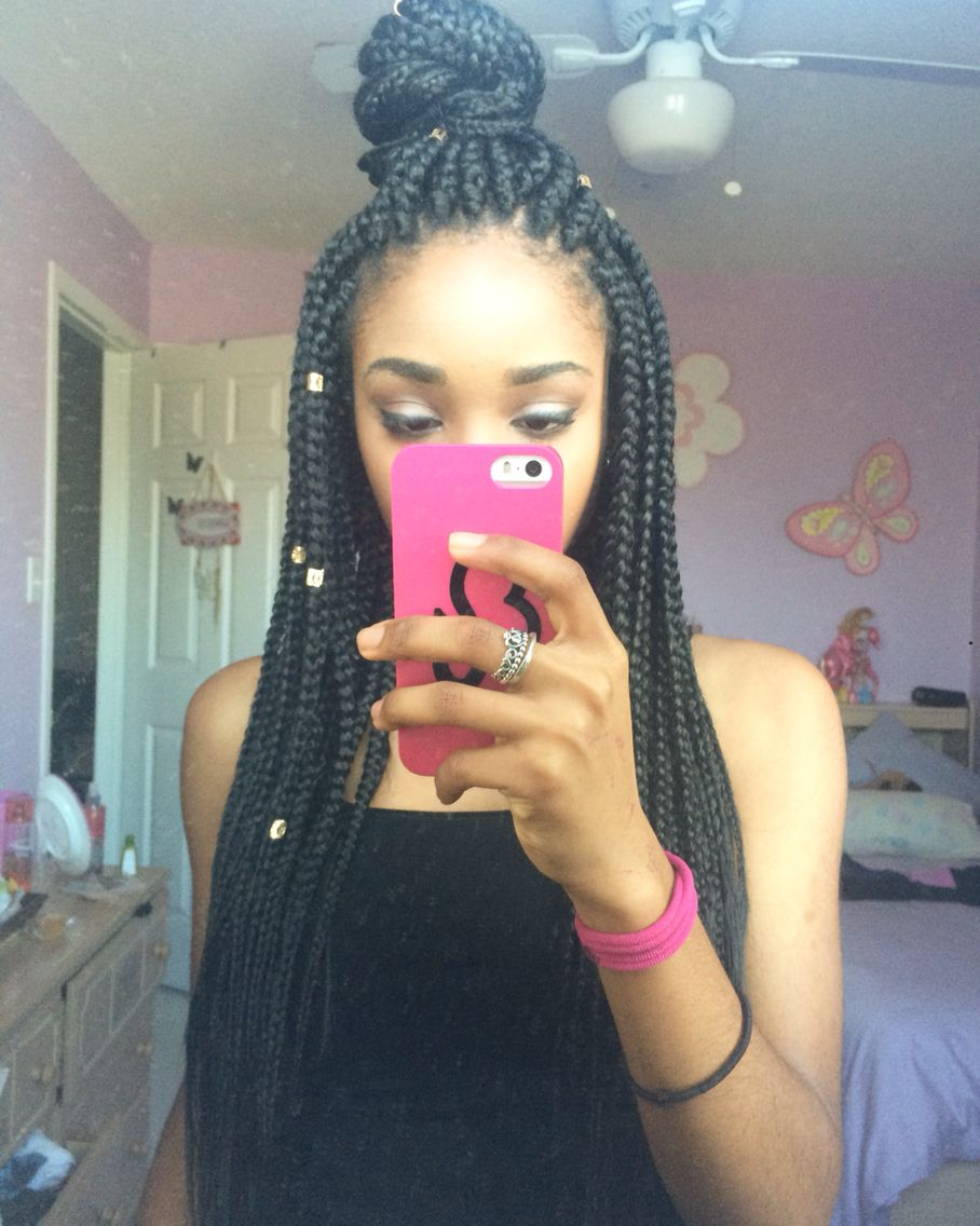 Box braids natural hairstyles for black women pinterest