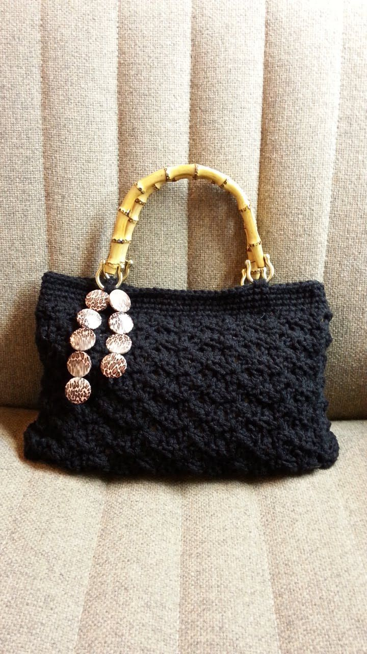 Crochet Splatter Stitch Handbag Purse with Hand Sewn Liner #TUTORIAL ...