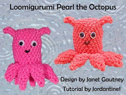 Amigurumi Loom Patterns : Pearl octopus loomigurumi amigurumi rainbow loom band crochet hook