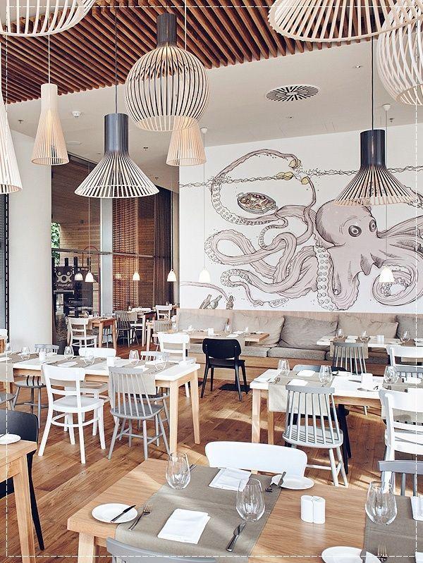 Creative Cafe Wall Design Un Urban Octopus Painting Coffee Shops Interior Cafe Interior Restaurant Interior