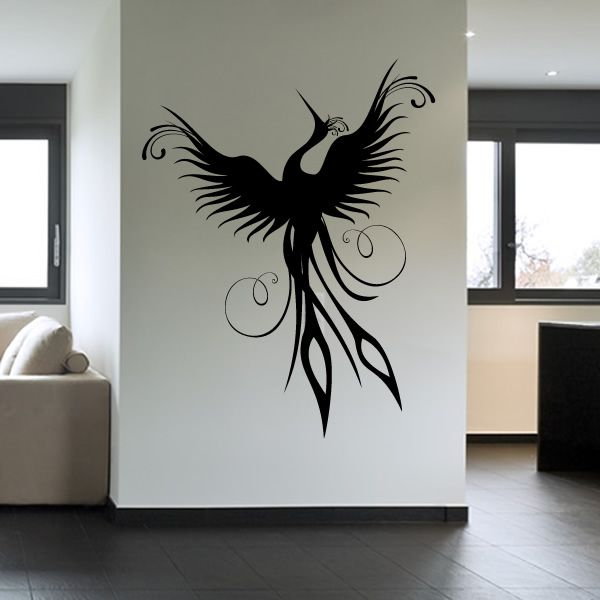 Birds Wall Art phoenix bird wall decal wall art stickers transfers | phoenix bird