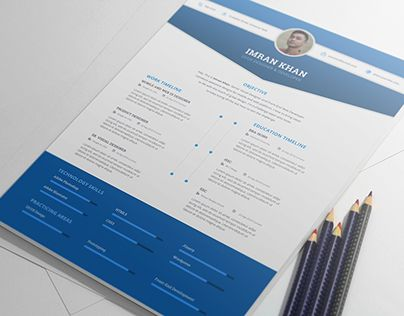 FREE Resume Template PSD (4 Colors) CV Resume Pinterest - free graphic resume templates