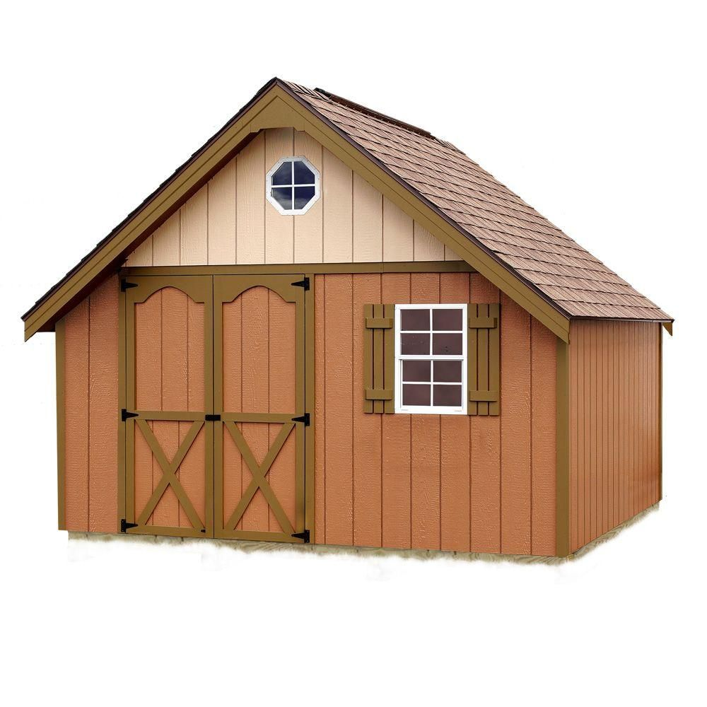 Best Barns Riviera 12 Ft X 16 Ft Wood Storage Shed Kit Riviera 1216 The Home Depot Shed Kits Wood Storage Sheds Storage Shed Kits
