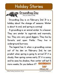 Worksheet: Groundhog Day