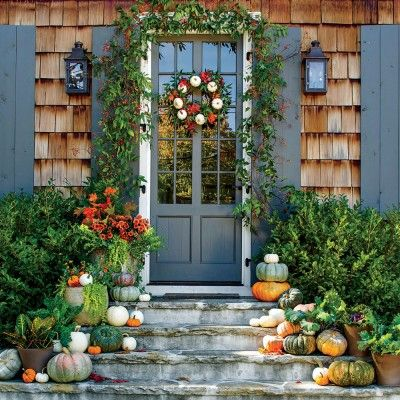 fabulous fall decorating ideas pumpkin wreath wreaths and southern living. Black Bedroom Furniture Sets. Home Design Ideas