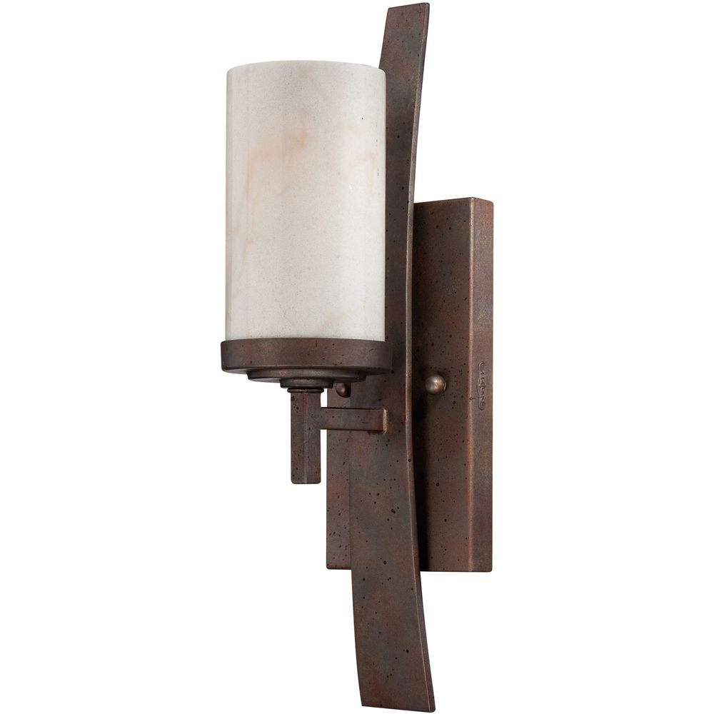 1 Light Kyle Wall Fixture Shown In Iron Gate By Quoizel